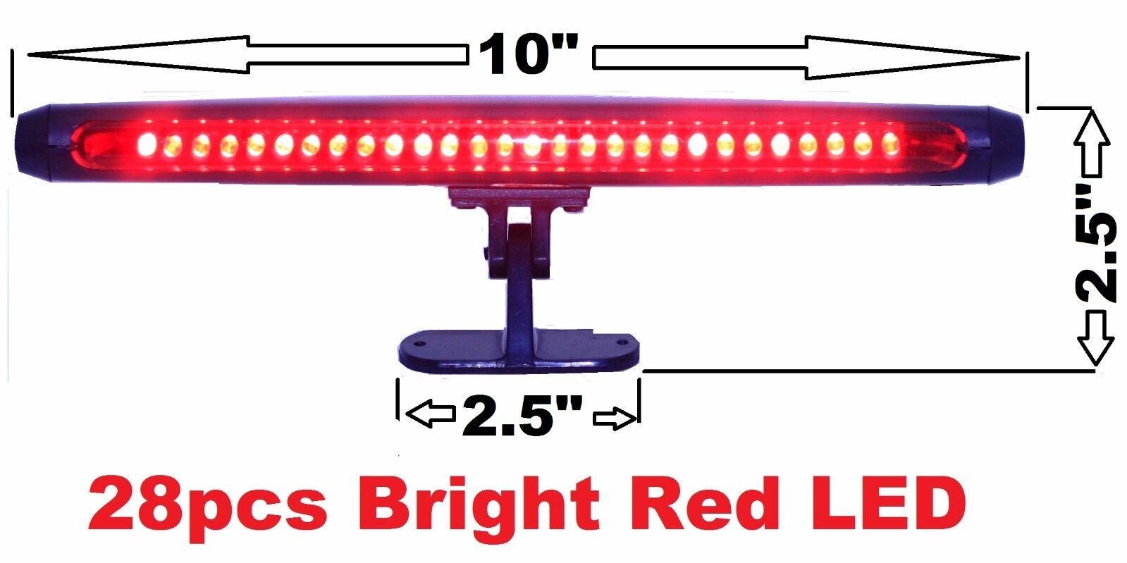 12V   Red 28Pcs Red LED Third Brake Light