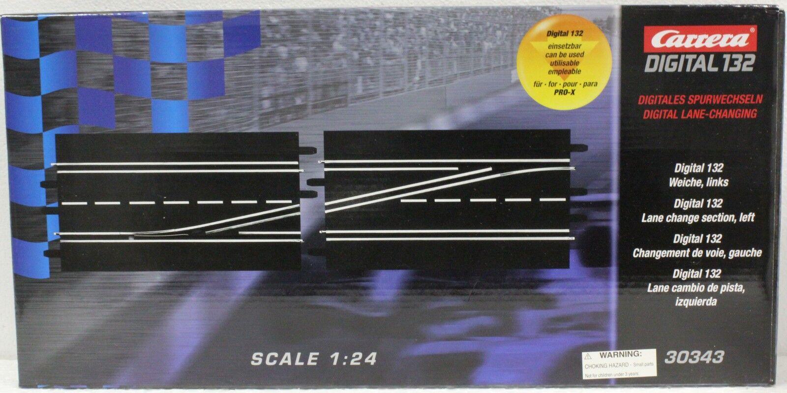Carrera 30343 Digital 132 Lane Change Left Track 1/24 - 1/32 Slot Car Track