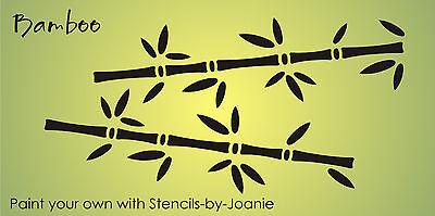Lg Bamboo Stencil Asian Oriental Plant Tree Design Border Wall Art Home Signs