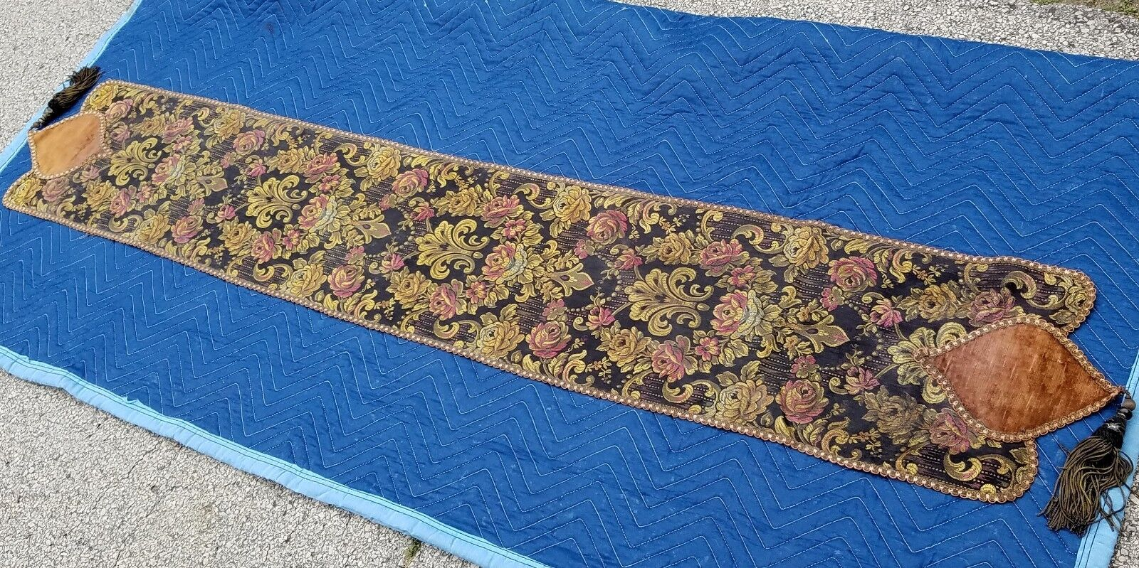 Gorgeous Antique Damask Tapestry Sideboard Table Runner 76x12