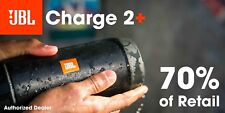 JBL Charge 2 Plus Splashproof Bluetooth Speaker Black Charge2+ Authorized Dealer