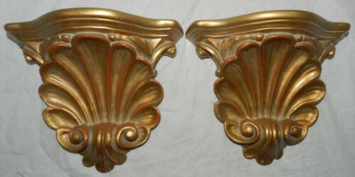 """Pair of Decorative Resin Wall Shelves, 9.25"""" Wide X 8"""" Tall"""