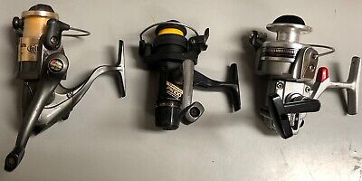 3 VERY NICE SPINNING FISHING REELS ABU GARCIA DIAWA SHIMANO ALL WORK FLAWLESSLY