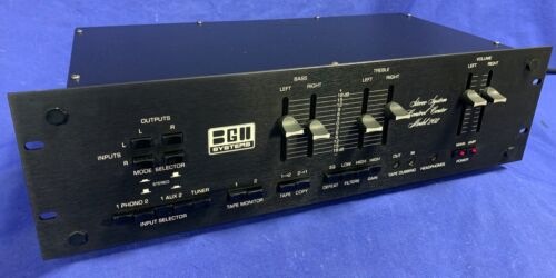 BGW Model 202, Vintage Audiophile Stereo Black-PreAmp-Dual Phono-USA-Exc Cond