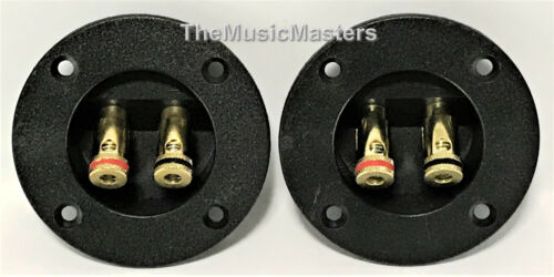 2X Gold Plated Banana Push Terminal Cup for Car Home Audio Speaker Box Cabinet