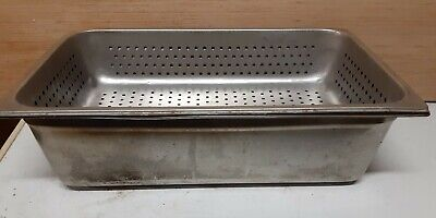 Full Size 6 Deep Steam Table Hotel Pan With Full Size 4 Perforated Pan