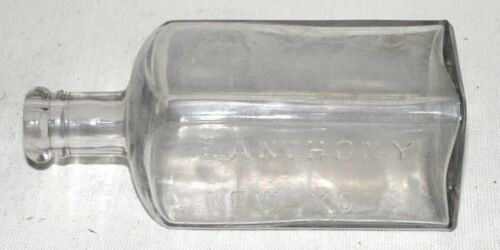 Rare E. Anthony New York Collodion Chemical Stained Square Bottle Iridescent