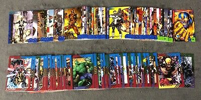 2013 & 2015 Marvel Fleer Retro Complete 60 Comic Card Base Sets Pack Fresh