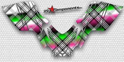 Arctic Cat M7 M8 M1000 Crossfire 05 - 11 Graphics Decal Sticker Kit Plaid Pink