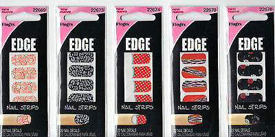 Fingrs Edge (Fing'rs Edge Decorative Nail Strips Package of 22 Nail Decals *New)