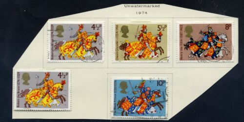 Lot of 25 stamps, UK, 1974. Scott 715-735 Five Complete Sets