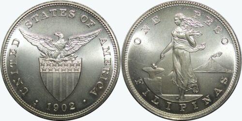 1902-S US-Philippines Peso ~ SATIN  ~ Daniel Carr Moonlight Mint ~ IMPERFECT ~D1