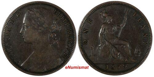 Great Britain Victoria Bronze 1879 1 Penny SCARCE DATE KM# 755 (17 142)
