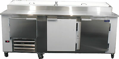 New Coolman 2-12 Door Door Refrigerated Pizza Prep Table S.s Top 84