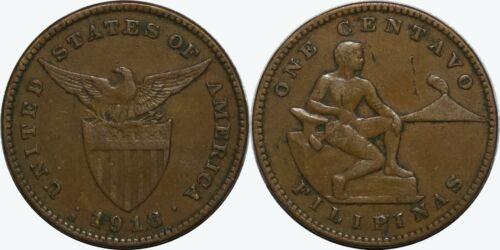 1918-S US/Philippines Centavo ~ VF/XF Details ~ Allen#2.16 ~ MX151