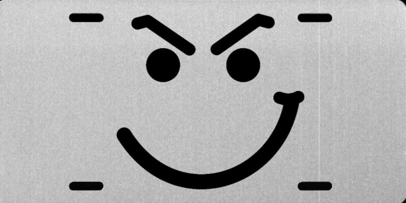 Bon Jovi Smirky Guy Have A Nice Day License Plate Silver Brushed Aluminum NEW