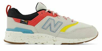 New Balance Kid's 997H Big Kids Female Shoes Off White with Blue Size 4 M