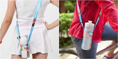 Water Bottle Strap Adjustable Lanyard Compact Bottle Carry Holder Flowers (Adjustable Water Bottle)