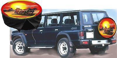 Indianer Western Country US Western Postkutsche Auto SUV  Jeep Radcover Radbezug