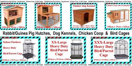 Rabbit Hutches, Chicken Coop, Dog Kennels, and Bird Cages