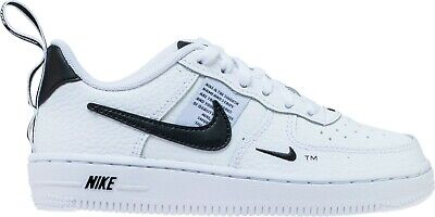 GS Nike Air Force 1 Low Black//White Sizes 4-7 New In Box 596728-026
