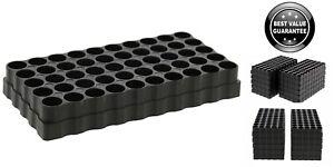 10x 50 Round Ammo Tray Universal Reloading Holder Loading Blocks Bullet Case