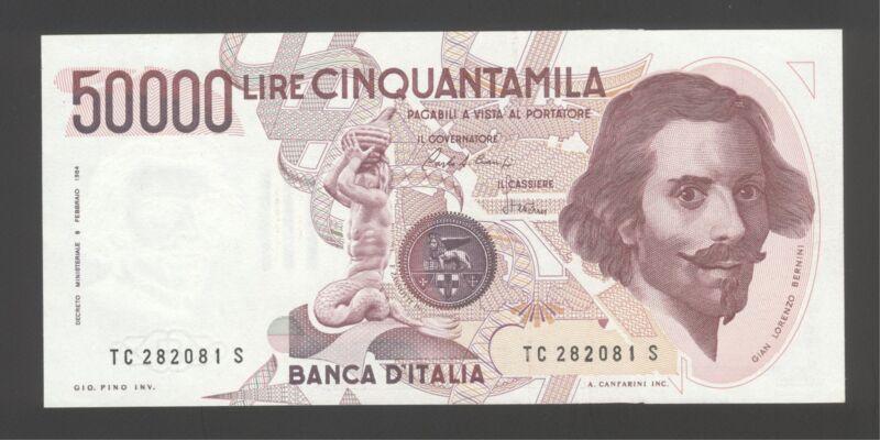 Italy 50000 Lire 1984-90 AU-UNC P. 113,  Banknotes, Uncirculated