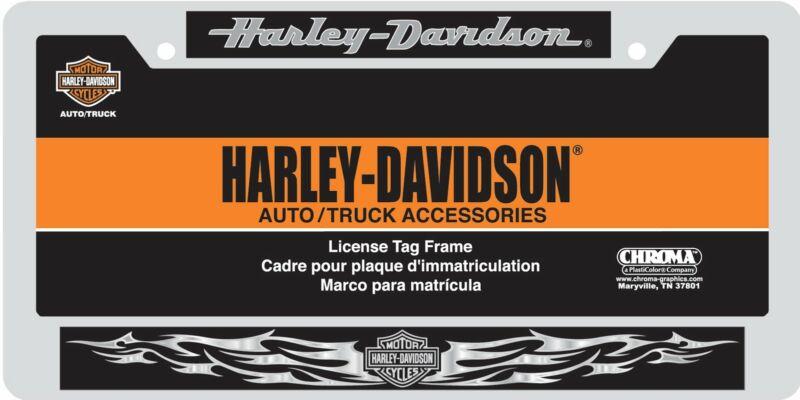 Chroma Harley-Davidson Chrome/Domed License Plate Frame 6413