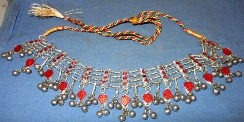 "Necklace Choker Chain Fashion Afghan Tribal Kuchi Alpaca Silver 24"" Adjustable"