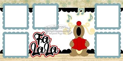 Christmas Page Kit - Scrapbook Layout Page Kit Christmas Carols Reindeer Paper Piece PKEmporium 20