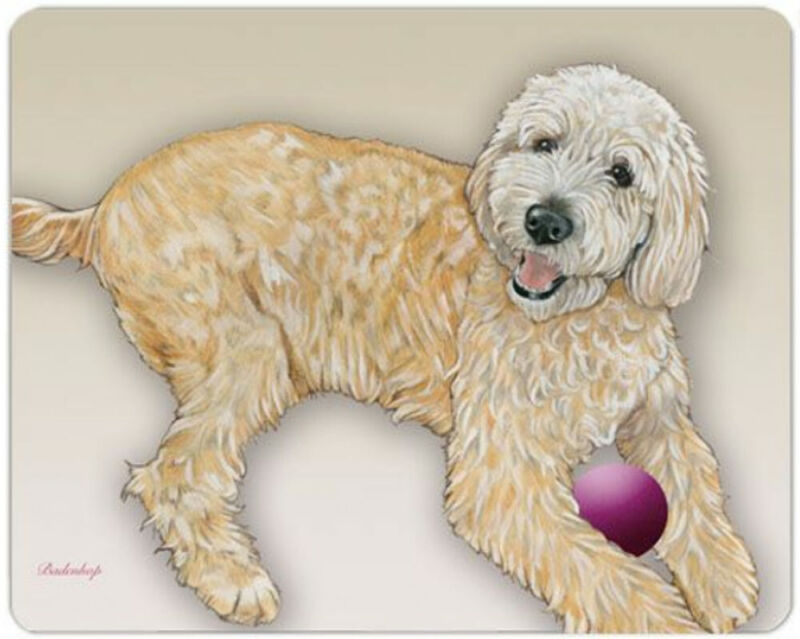 Labradoodle Cutting Board Tempered Glass