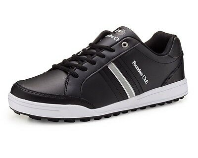 Founders Club Mens Spikeless Street Golf Shoe Black