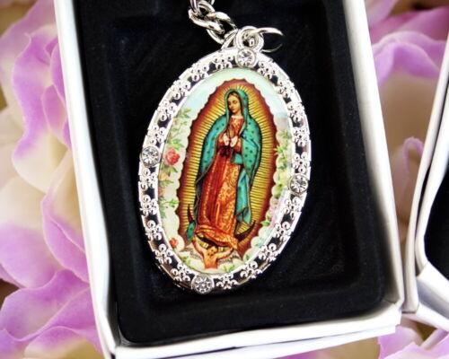 12PC Virgen de Guadalupe Key Chain Baptism Party Favors Recuerdos de Bautizo