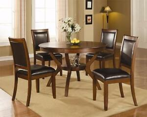 Round Walnut Dining Table Set in Kamloops