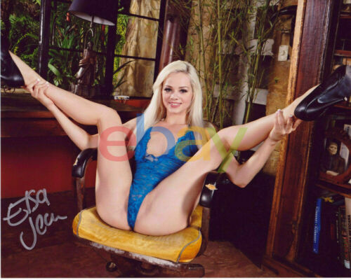 ELSA JEAN Adult Video Star SIGNED 8X10 Photo reprint
