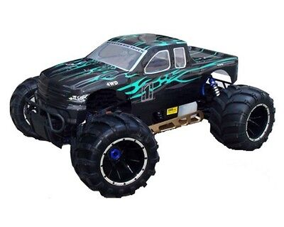 1:5 Scale Rampage MT V3 Gas RC Monster Truck 2.4GHz Remote Control Black &