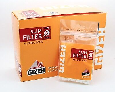Gizeh Slim Filter 6 mm - 20 Beutel a 120 Filter