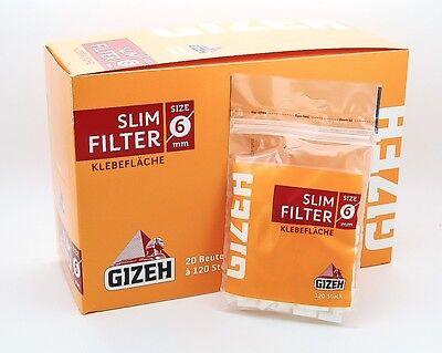 Gizeh Slim Filter 6 mm - 20 Beutel a 120 Filter