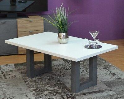 Couchtisch Wohnzimmertisch Tisch U Form Gestell 120x70 Cm Graphit Weiss Neu