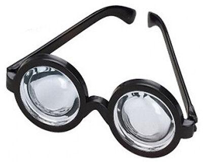 Black Frame Plastic Nerd Doctor Novelty Big Bug Eye Bottle Rim Glasses - Big Black Frame Nerd Glasses