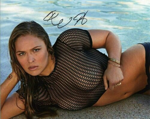 Ronda Rousey Autographed 8 x 10 Glossy Photo Reproduction