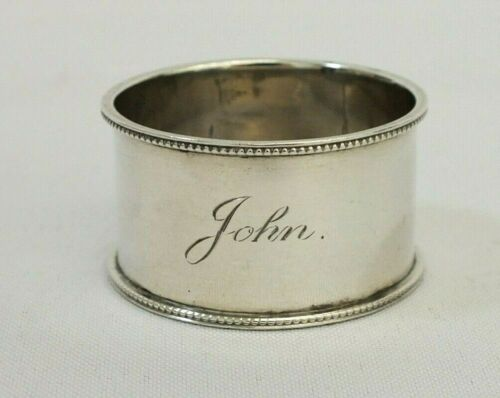 Antique 1900 Sterling Silver Charles Humphries Mono