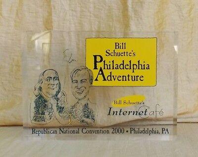 Bill Schuette's Philadelphia Adventure Republican Convention 2000 Acrylic Plaque