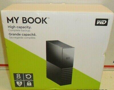 WD 8TB My Book Desktop USB 3.0 External Hard Drive WDBBGB0080HBK-NESN