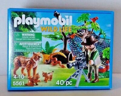 Playmobil Wild Life Luchsfamilie mit Tierfilmer 5561 Neu & OVP Luchs