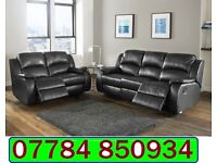 ITALIAN LEATHER 3+2 RECLINER SOFA + DELIVERY