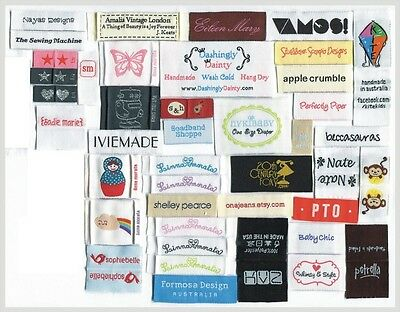 2400 custom artwork woven labels personalized clothing labels Free Design