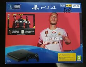 PS4 SLIM 500GB WITH FIFA 20 BRAND NEW