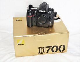 Nikon D700 Full Frame Camera Boxed