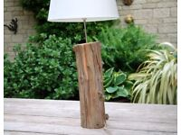 Handmade reclaimed wood lamp